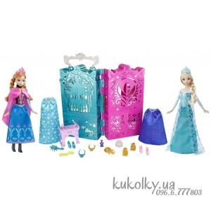 Холодное сердце набор кукол Анна и Эльза - гардероб и одежда